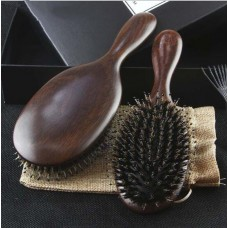 Spot hairdressing supplies wholesale green sandalwood wild boar armpit airbag cushion head massage hair comb